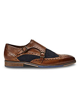 Joe Browns Leather Patch Monk Shoes
