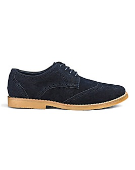 Evan Lace Up Casual Brogue Extra Wide Fit