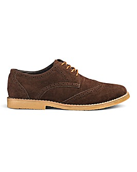 Evan Lace Up Casual Brogue Wide Fit