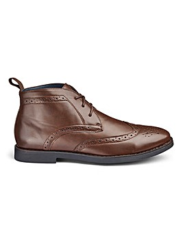 Brogue Lace Up Boots Standard Fit