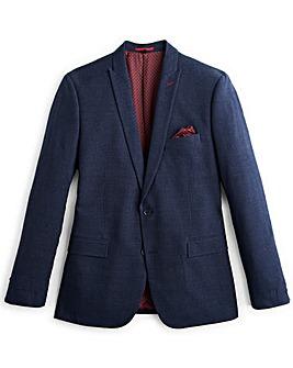 Jacamo Slim Navy Check Suit Jacket Regular
