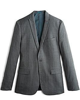 Jacamo Slim Charcoal Check Suit Jacket Short