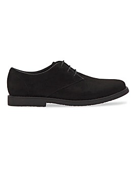 Luke Casual Suede Look Derby Wide