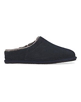 Suede Mule Slippers Standard Fit