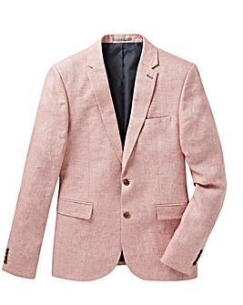 Jacamo Pink Slim Fit Linen Blazer
