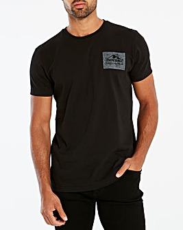 Snowdonia Black Logo Tee Regular