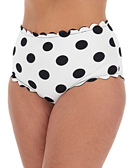 Reversible Scalloped High Waist Brief