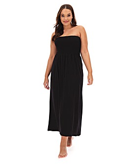 Shirred Top Maxi Beach Dress