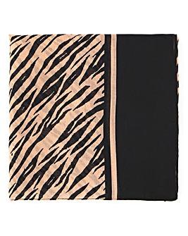 Lightweight Zebra Mono Scarf