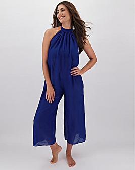 High Neck Beach Jumpsuit