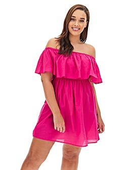 Value Cotton Bardot Beach Dress