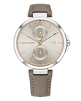 Tommy Hilfiger Leather Strap Watch