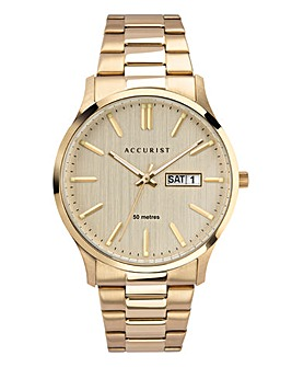 Accurist Mens Gold Bracelet Watch