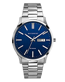 Accurist Mens Blue Dial Bracelet Watch
