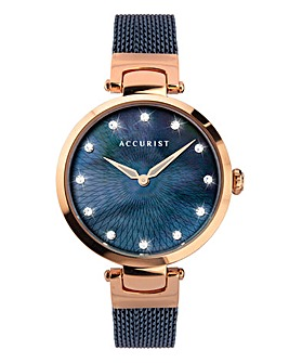 Accurist Ladies Rose Gold Mesh Watch
