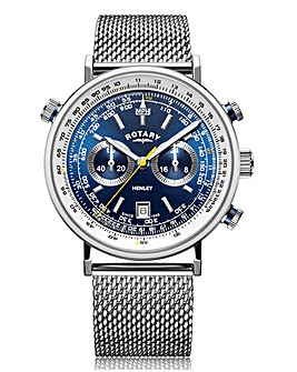 Rotary Blue Face Henley Pilot Watch
