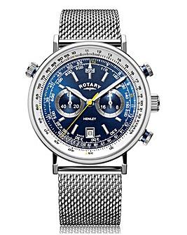 Rotary Blue Face Henley Pilot Watch