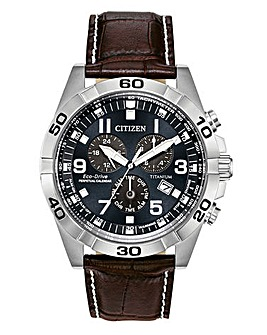 Citizen Gents Chrono Brown Strap Watch