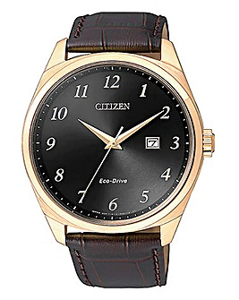 Citizen Gents Eco Drive Brown Watch