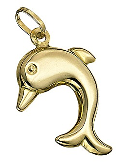 9 Carat Yellow Gold Dolphin Charm