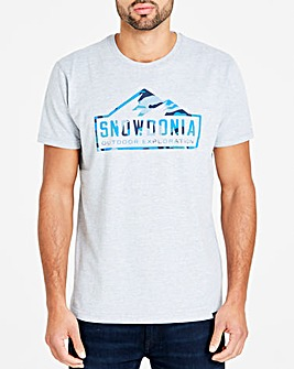 Snowdonia Grey Marl Tee Long
