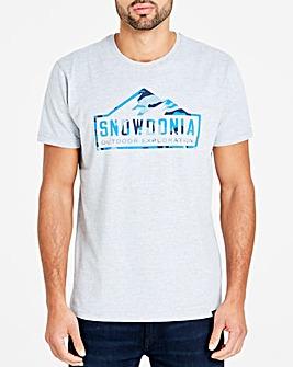 Snowdonia Grey Marl Camo Tee Long