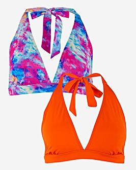 Basic Value Two Pack Bikini Tops