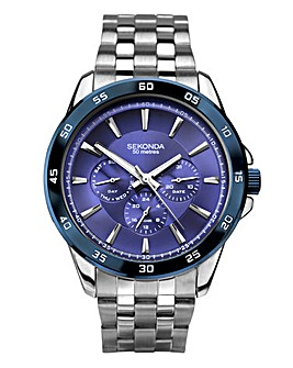Sekonda Gents Blue Dial Bracelet Watch