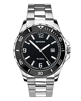 Sekonda Gents Black Dial Bracelet Watch