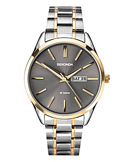 Sekonda Gents Two Tone Bracelet Watch