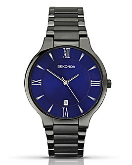 Sekonda Gents Gunmetal Bracelet Watch