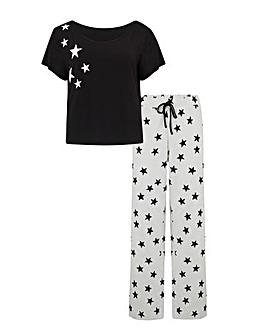 Pour Moi Jersey Star SS Pyjama Set