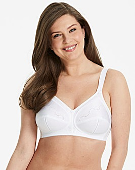 Triumph Doreen Cotton Non Wired White Bra