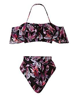 Ruffle Bardot Bikini Set