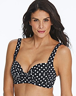 Polka Dot Non Wired Padded Bikini Top