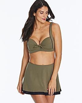 Khaki Non Wired Padded Bikini Top