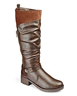 Heavenly Soles Knee Boots E Fit Curvy