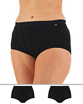 Sloggi 2Pack Control Briefs, Blk or Wht