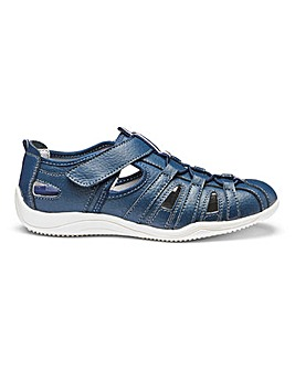 Cushion Walk Touch and Close Leather Leisure Shoes Wide E Fit