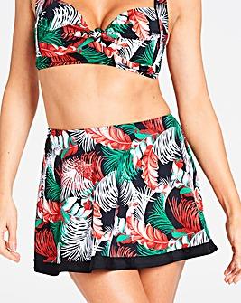 Palm Print Bikini Skort