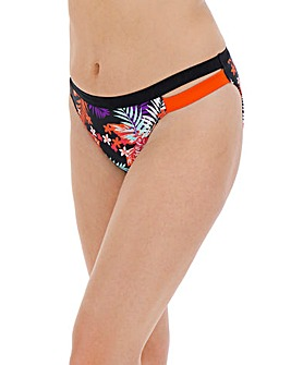 Tropical Print Hipster Bikini Brief
