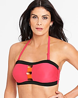 Pink/Orange Multiway Bandeau Bikini Top
