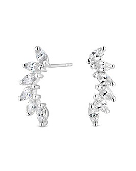 Simply Silver Marquise Climber Earring