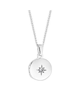 Simply Silver Mini Locket Necklace