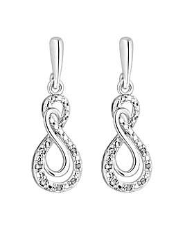 Simply Silver Infinity Drop Earrings