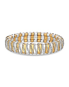 Jon Richard 2 Tone Crystal Bracelet