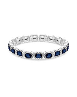 Jon Richard Silver Blue Stretch Bracelet
