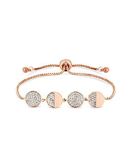 Jon Richard Rose Gold Crystal Toggle