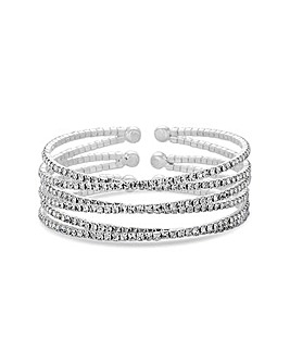 Jon Richard Silver Twist Cuff Bangle