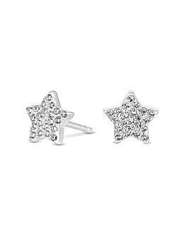 Simply Silver Star Stud Earrings